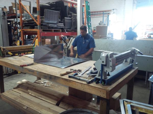Commercial HVAC sheetmetal fabrication by Capital HVAC