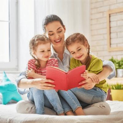 Mom Reading Kids