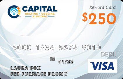 $250 VISA reward card